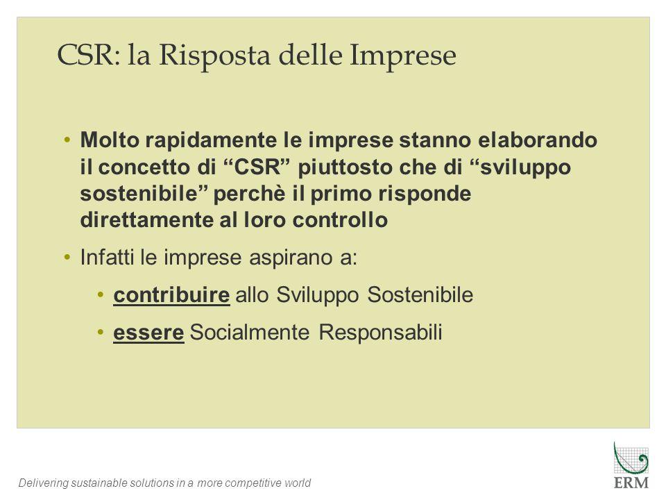 CSR: la Risposta delle Imprese
