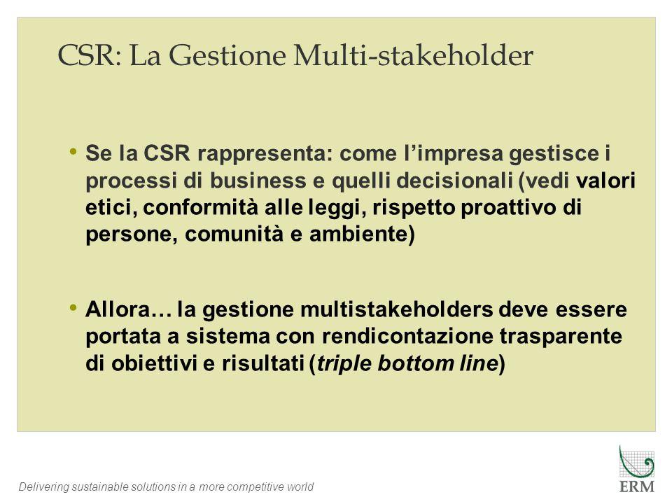 CSR: La Gestione Multi-stakeholder