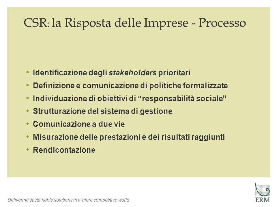 CSR: la Risposta delle Imprese - Processo