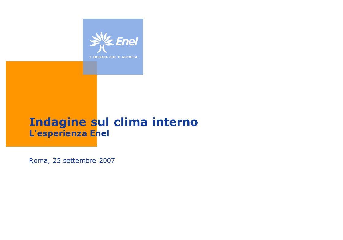Indagine sul clima interno L'esperienza Enel
