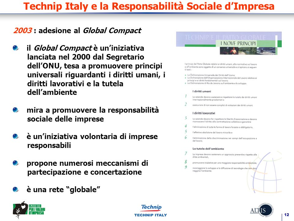 Technip Italy e la Responsabilità Sociale d'Impresa