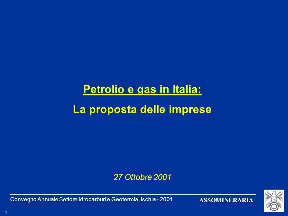 Petrolio e gas in Italia: La proposta delle imprese
