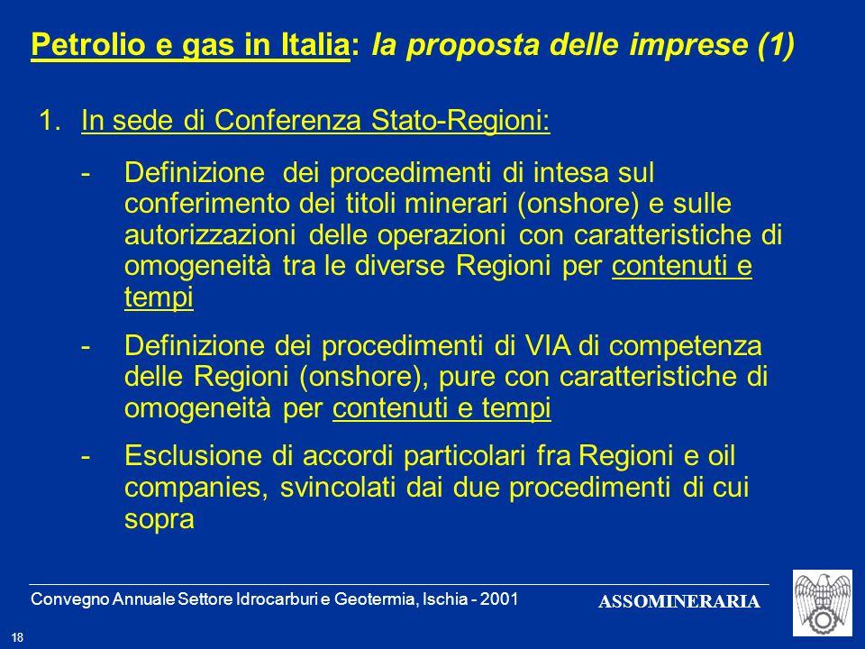 Petrolio e gas in Italia: la proposta delle imprese (1)