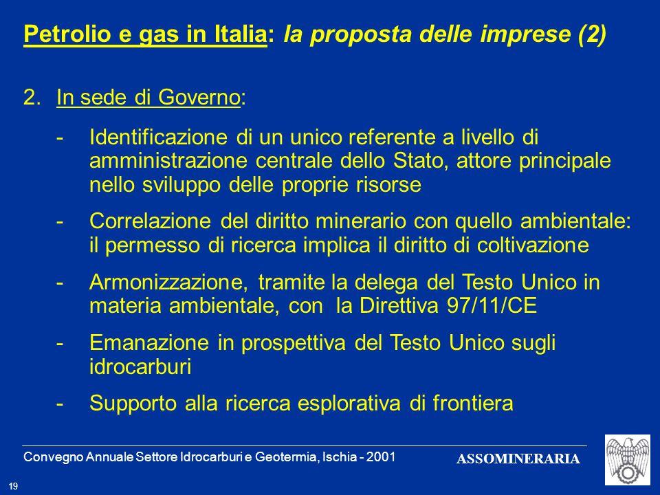 Petrolio e gas in Italia: la proposta delle imprese (2)