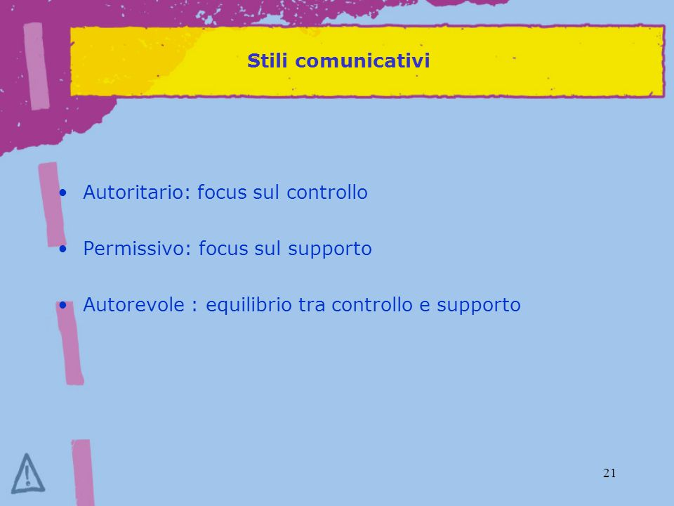 Stili comunicativi Autoritario: focus sul controllo