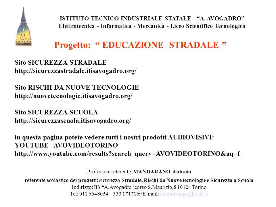 Progetto: EDUCAZIONE STRADALE