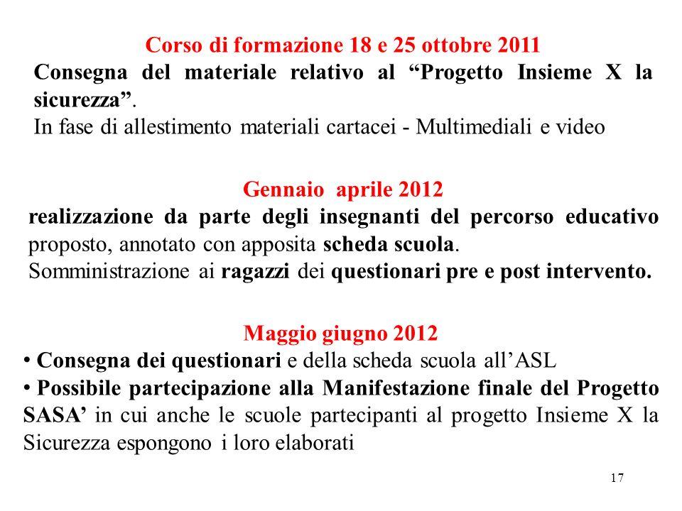 Corso di formazione 18 e 25 ottobre 2011