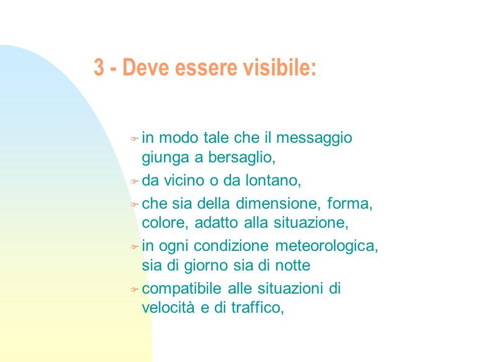3 - Deve essere visibile: