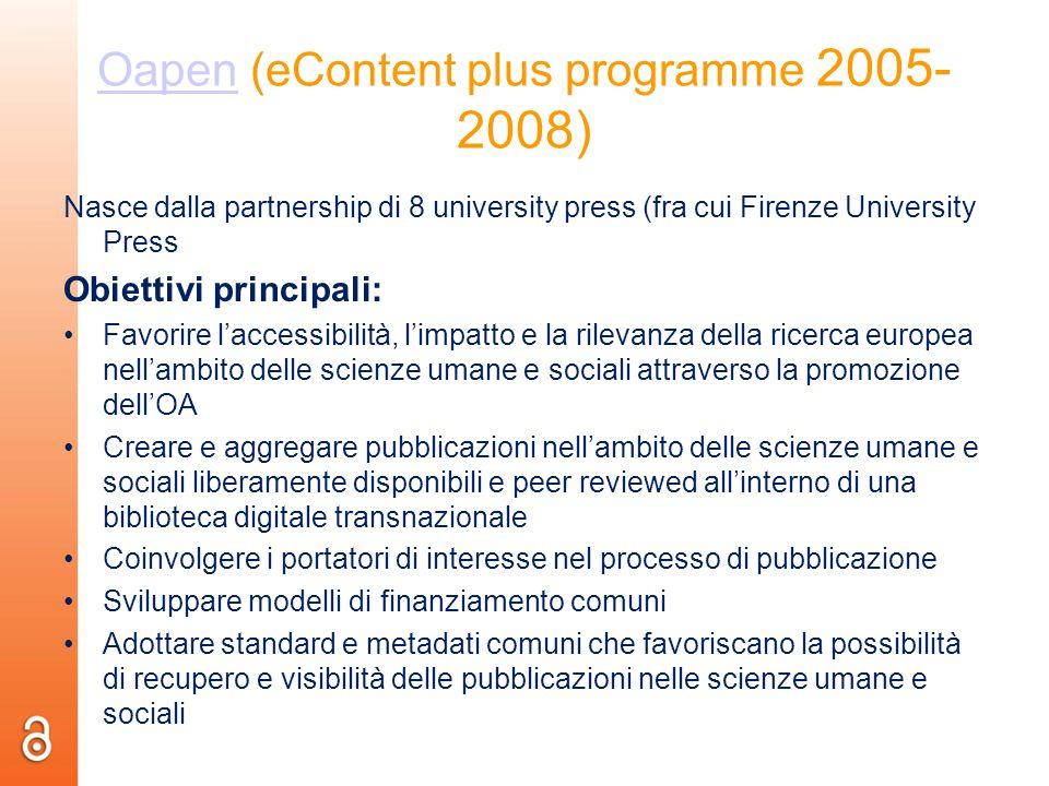 Oapen (eContent plus programme 2005-2008)