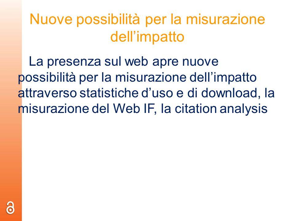Nuove possibilità per la misurazione dell'impatto