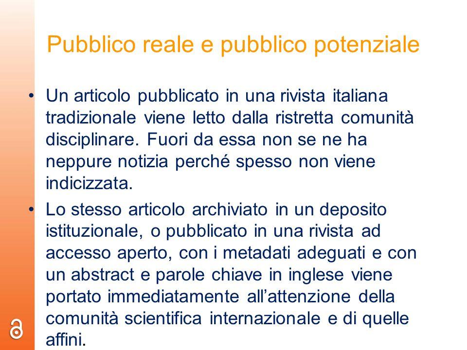 Pubblico reale e pubblico potenziale