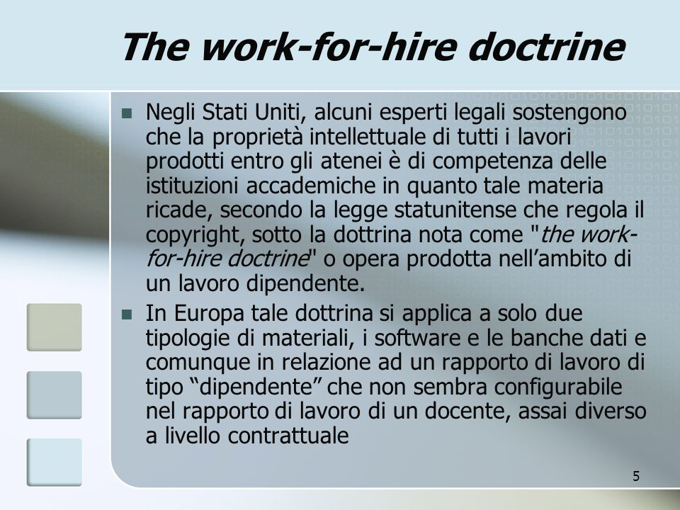 The work-for-hire doctrine