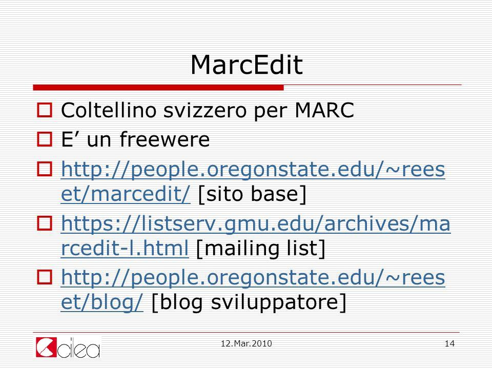MarcEdit Coltellino svizzero per MARC E' un freewere