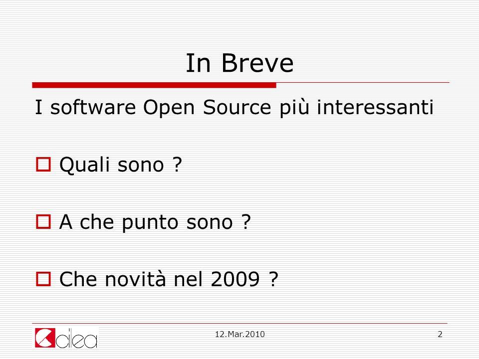In Breve I software Open Source più interessanti Quali sono