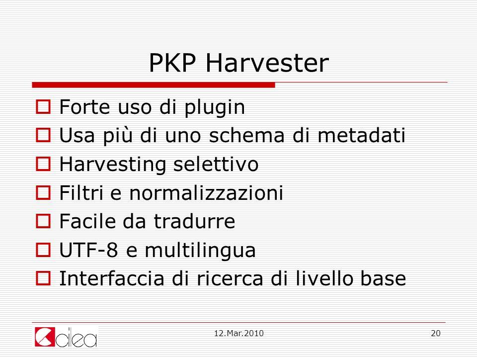 PKP Harvester Forte uso di plugin Usa più di uno schema di metadati