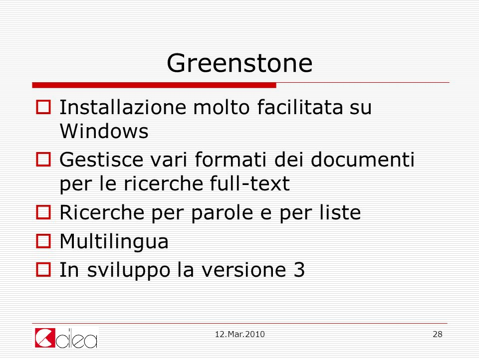 Greenstone Installazione molto facilitata su Windows