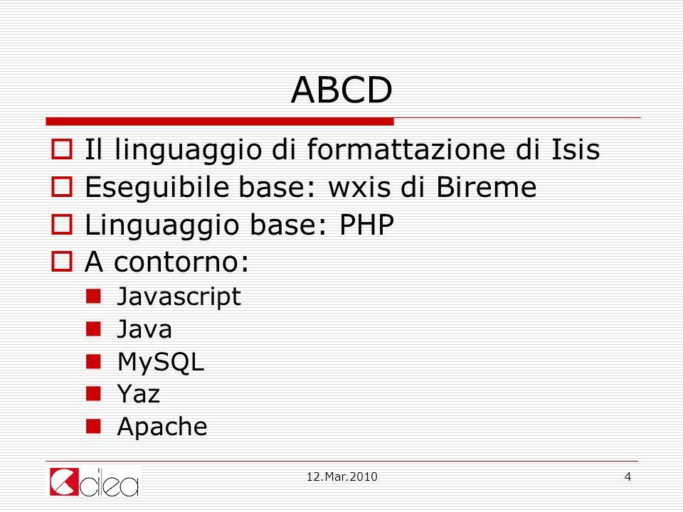 ABCD Il linguaggio di formattazione di Isis