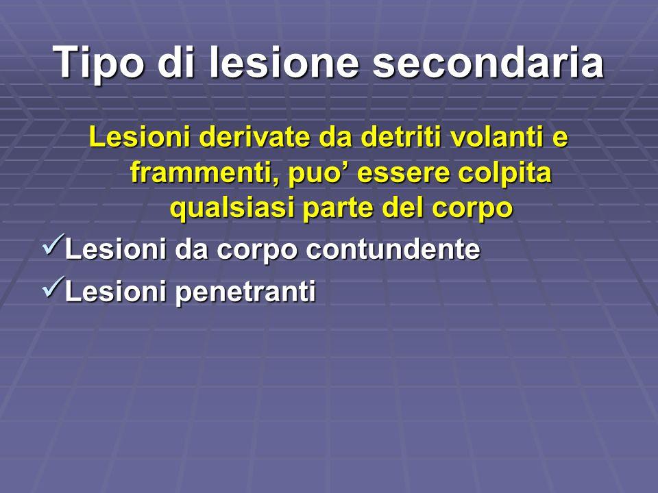 Tipo di lesione secondaria