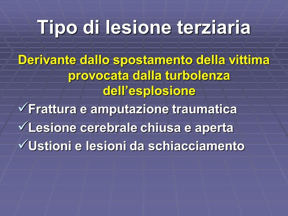 Tipo di lesione terziaria