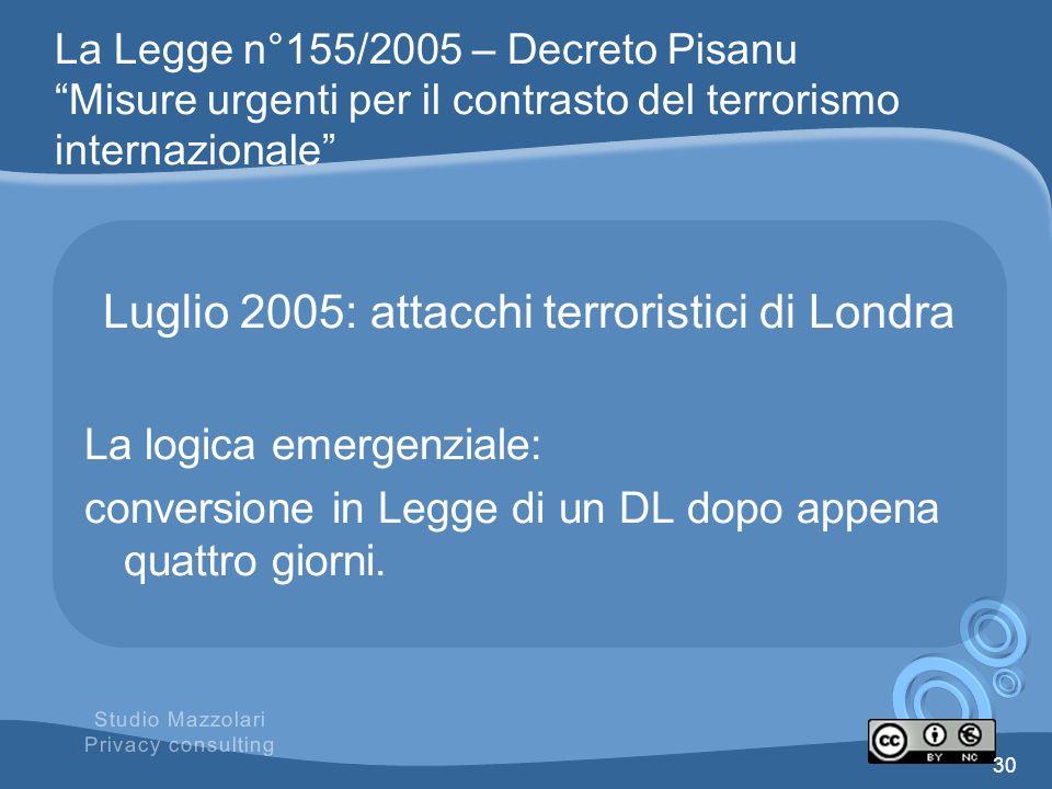 Luglio 2005: attacchi terroristici di Londra