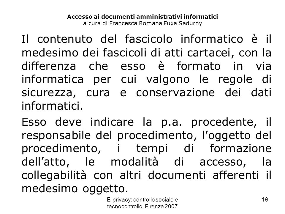 E-privacy: controllo sociale e tecnocontrollo. Firenze 2007