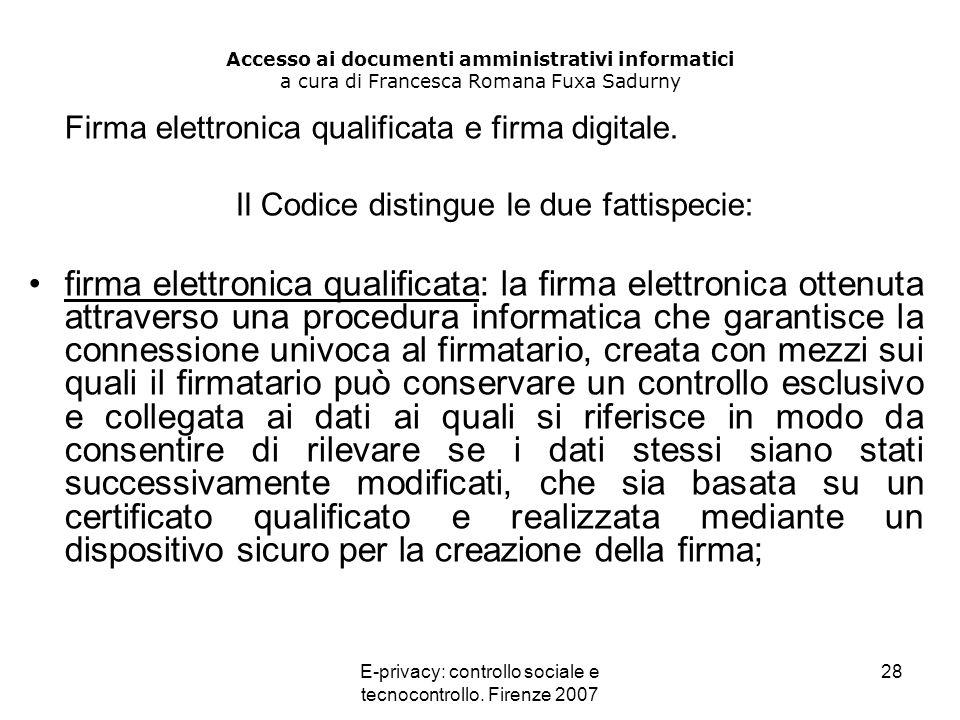 Accesso ai documenti amministrativi informatici a cura di Francesca Romana Fuxa Sadurny