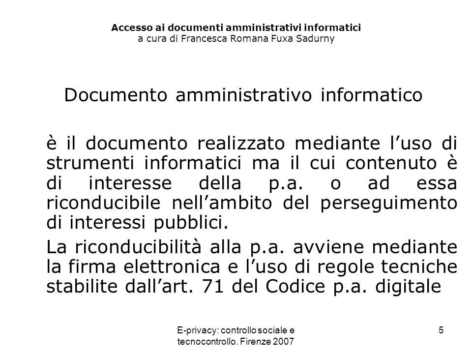 Documento amministrativo informatico