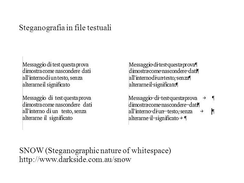 Steganografia in file testuali