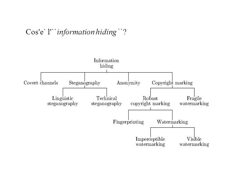 Cos e` l ``information hiding``