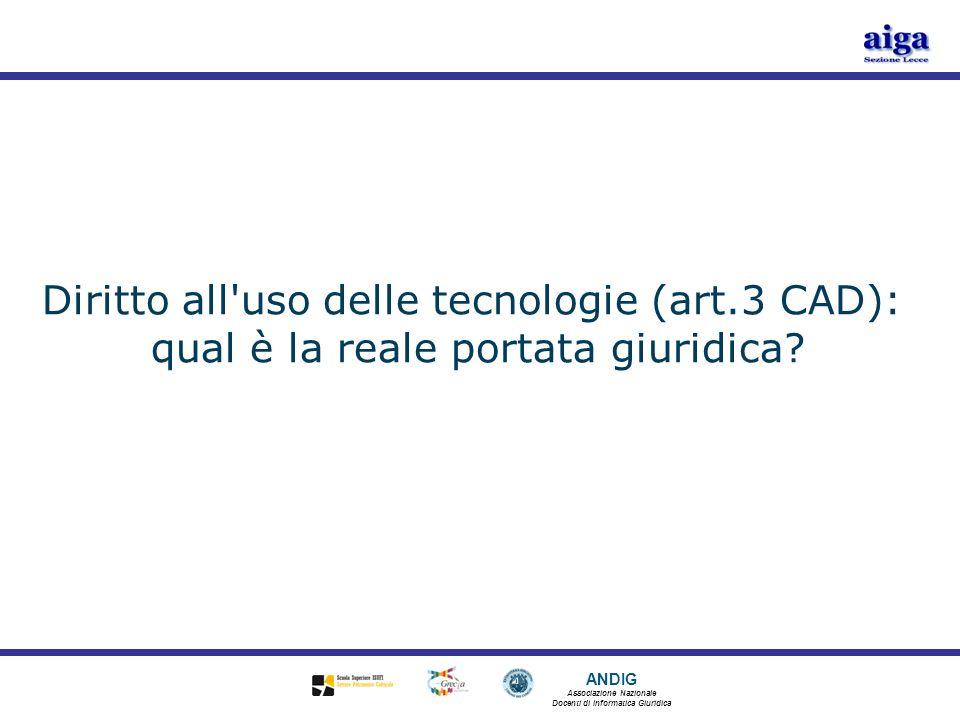 Diritto all uso delle tecnologie (art