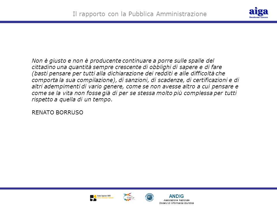 Il rapporto con la Pubblica Amministrazione