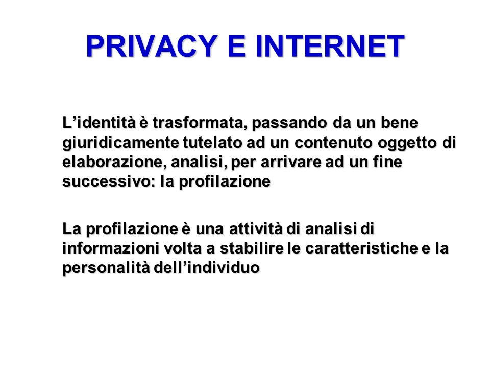 PRIVACY E INTERNET