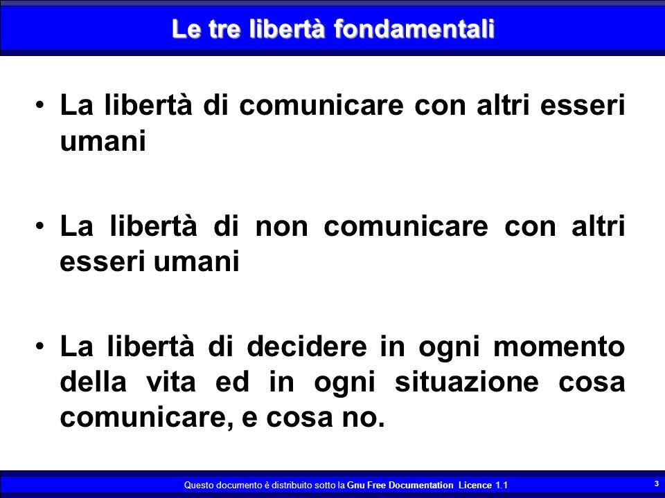 Le tre libertà fondamentali