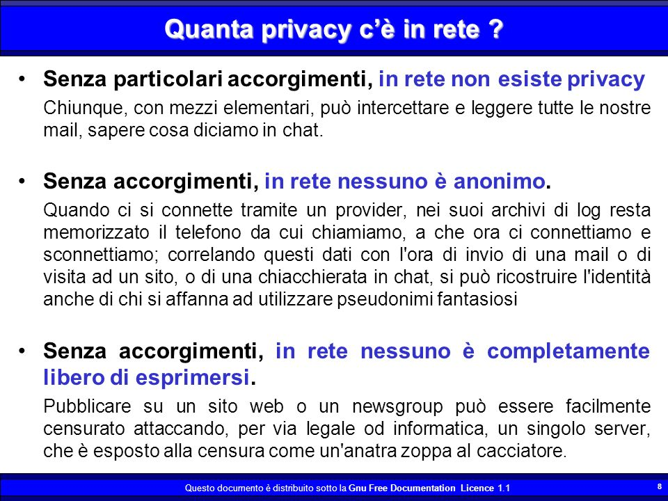Quanta privacy c'è in rete