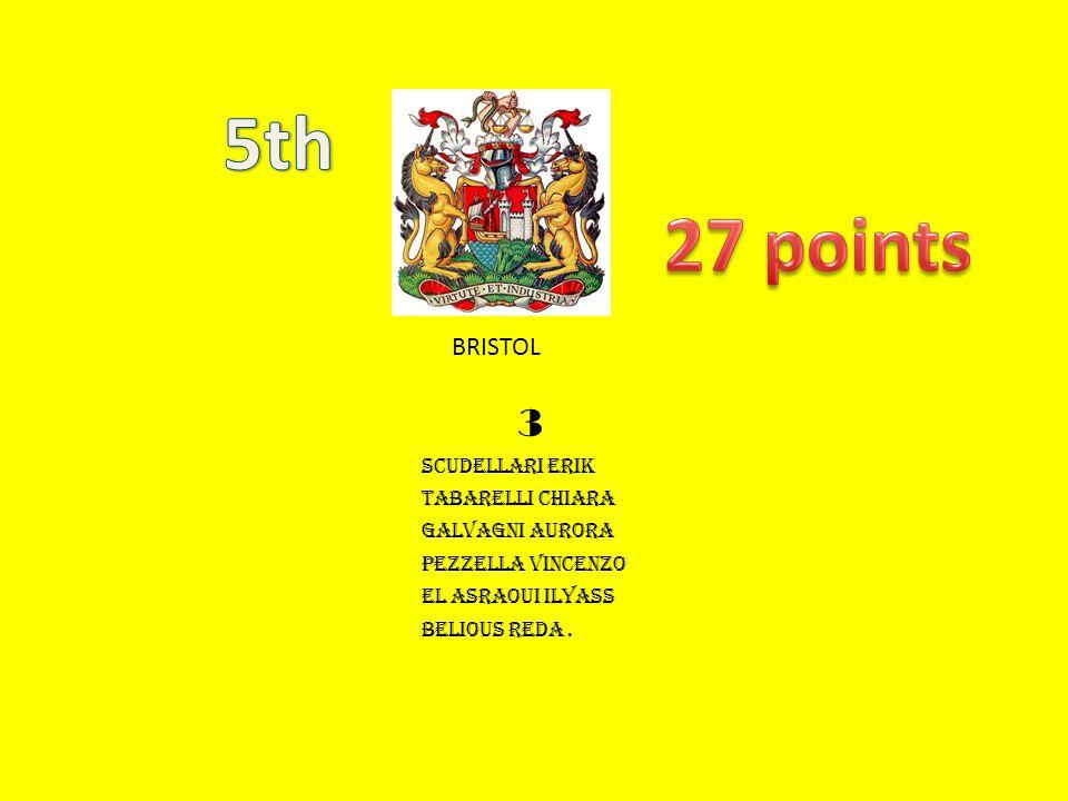 5th 27 points 3 BRISTOL scudellari erik tabarelli chiara