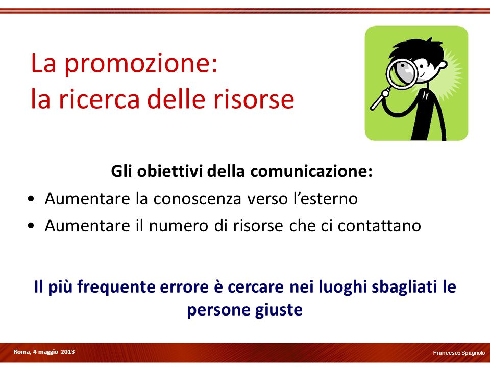 Gli obiettivi della comunicazione: