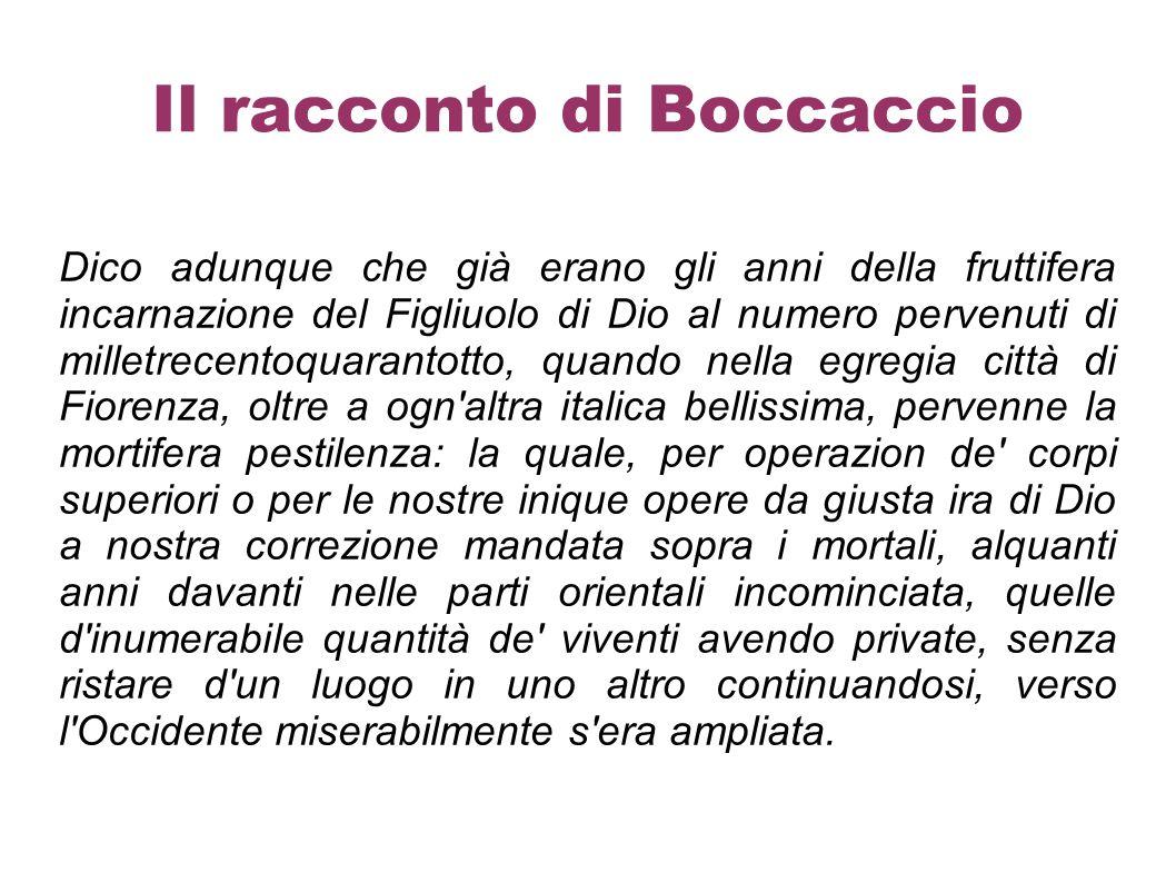 Il racconto di Boccaccio