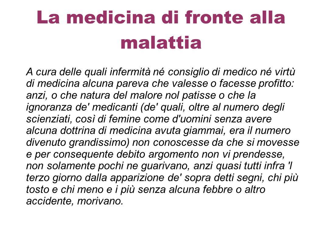 La medicina di fronte alla malattia
