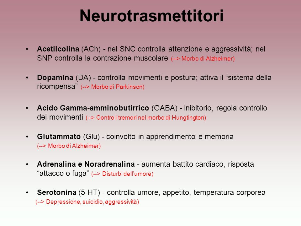 Neurotrasmettitori