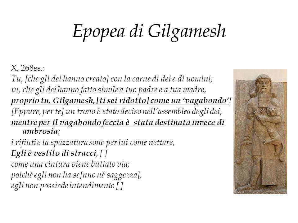Epopea di Gilgamesh X, 268ss.: