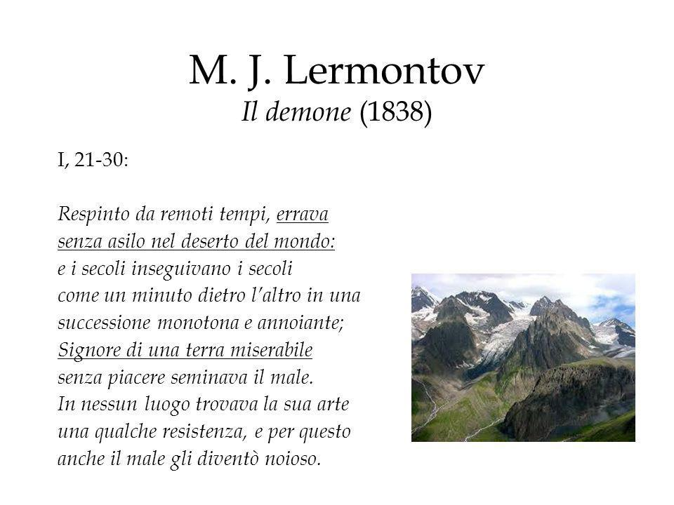 M. J. Lermontov Il demone (1838)
