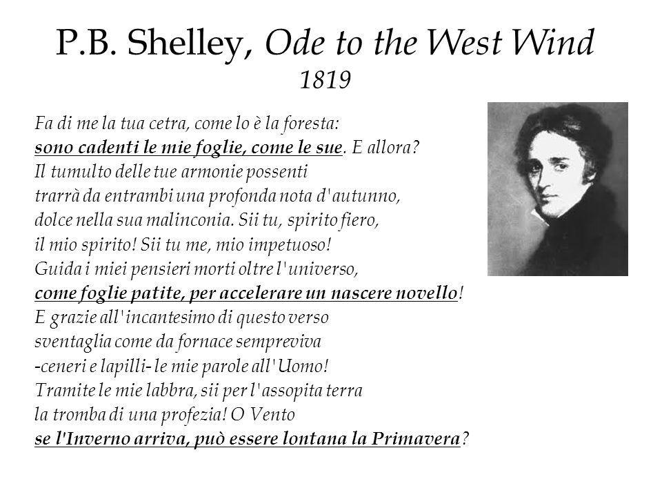 P.B. Shelley, Ode to the West Wind 1819