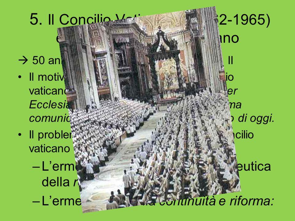 5. Il Concilio Vaticano II (1962-1965) e gli stati di vita del cristiano