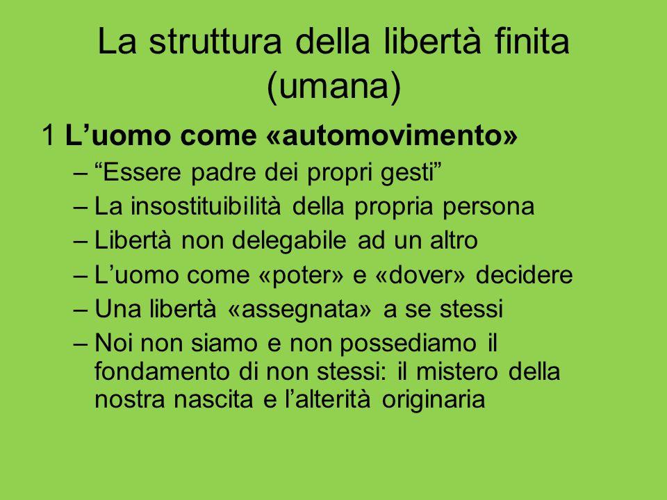 La struttura della libertà finita (umana)