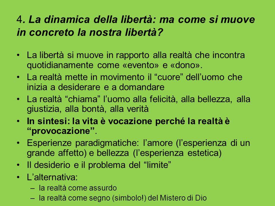 4. La dinamica della libertà: ma come si muove in concreto la nostra libertà