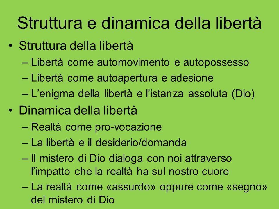 Struttura e dinamica della libertà