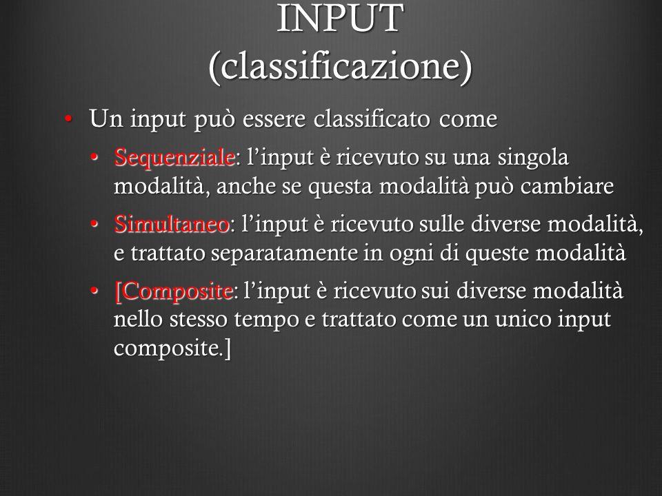 INPUT (classificazione)