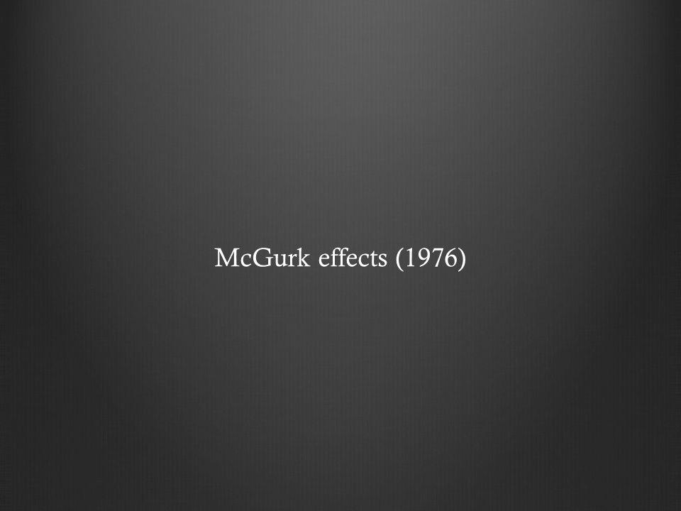 McGurk effects (1976)