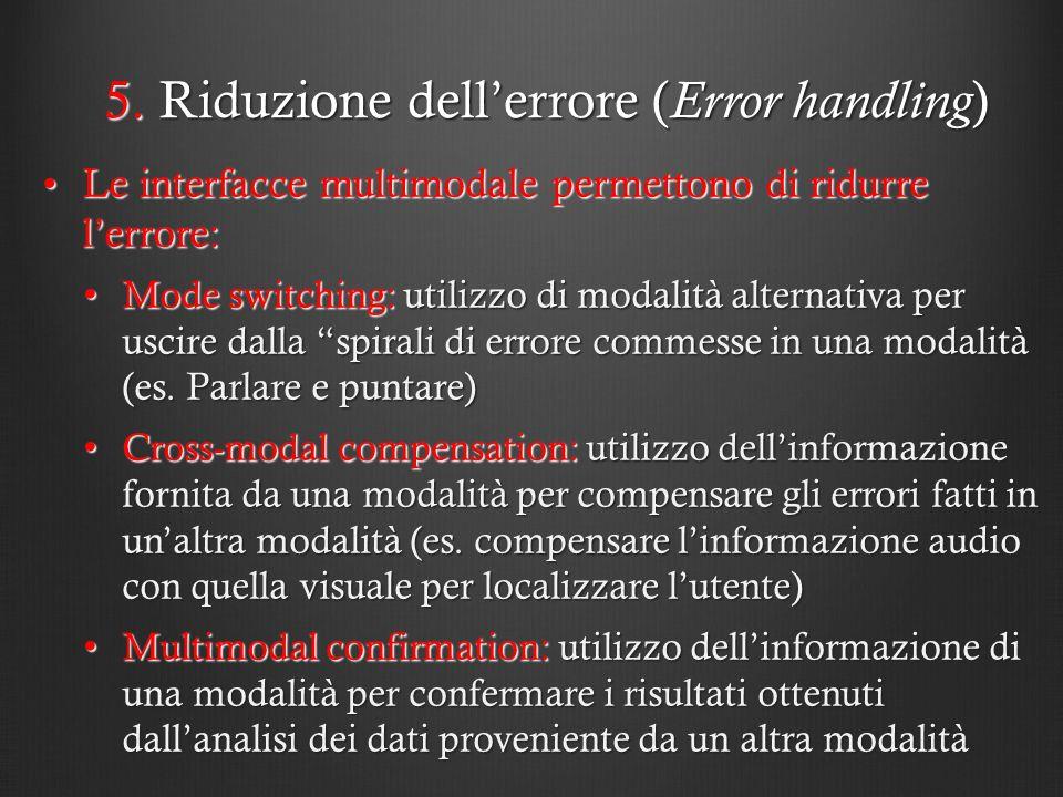 5. Riduzione dell'errore (Error handling)