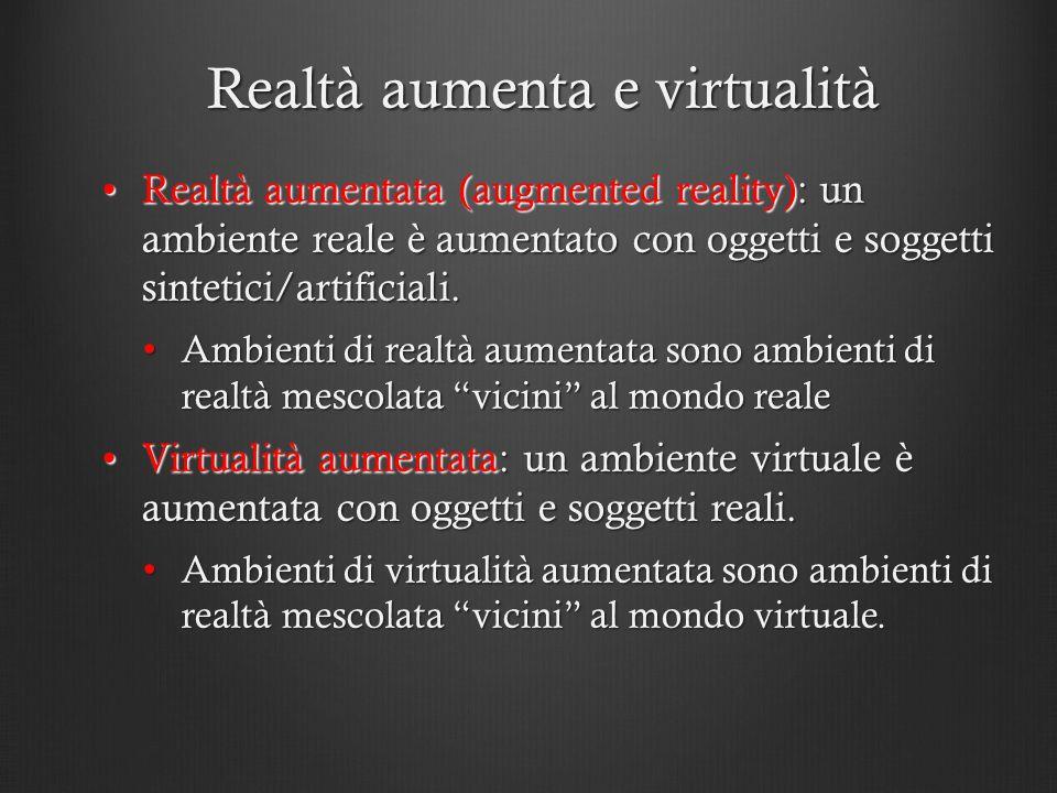 Realtà aumenta e virtualità